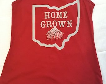 Home grown Ohio women's racerback tank
