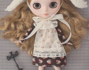 Brown dolly dress