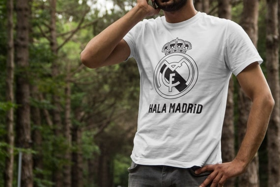 Real Madrid Hala Madrid T-Shirts S-4XL Anbd Long Sleeve Available Customizable LA LIGA