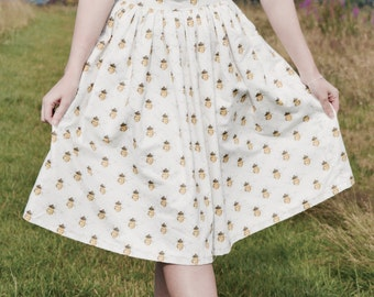 Bees Please Midi Skirt