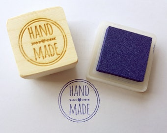 Handmade stamp: laser cut stamp,stamp for tags, rubber stamp, packaging supplies