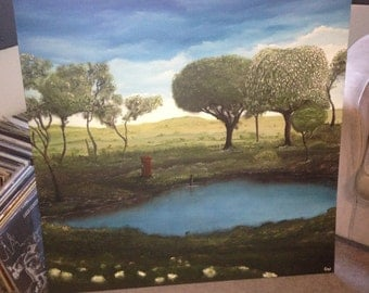 100x 100 Oil Painted landscape,For Emily by Gen (Sean Dagnall)