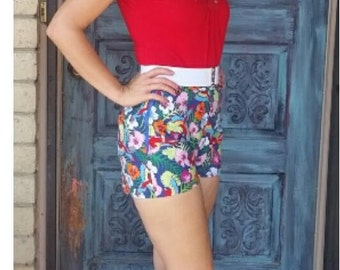 Parrot high waist shorts