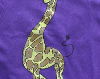 AP0001 - A cute hand painted shimmered giraffe for kids