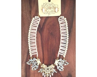 Gatsby Style Statement Necklace With Earrings