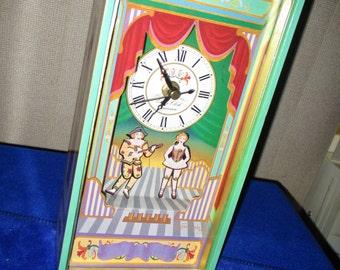 DANCING CLOWN CLOCK vintage