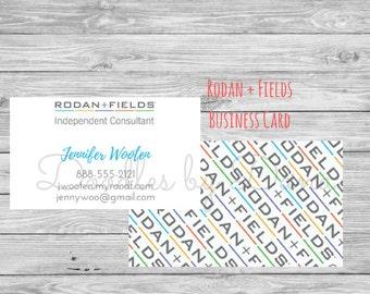Rodan and Fields Business Card - logo - Printable - Rodan and Fields