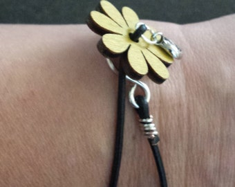 Flower Bracelet,a reminder to take time to smell the flowers.