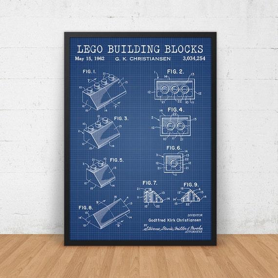 Lego Printable Blueprint Toy Brick Patent Lego Toys Building