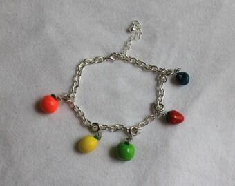 Colorful Fruit Charm Bracelet