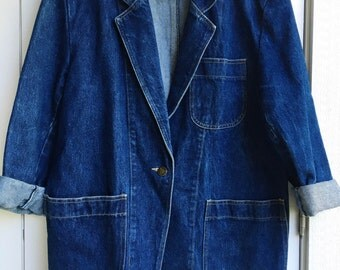 oversize denim blazer jacket