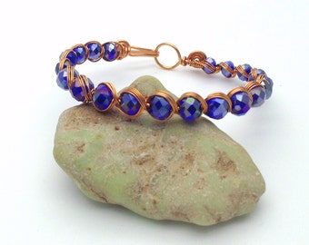 Blue Swaroski Crystal Bracelet
