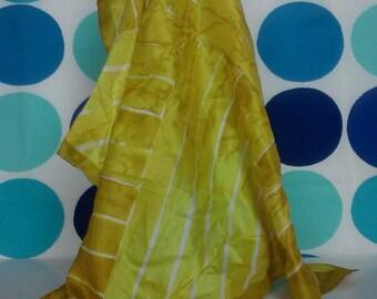 Vera Neumann Scarf- Vintage- Yellow- Free U.S. Shipping