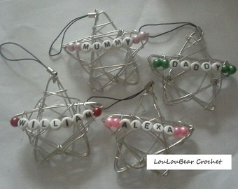 Personalised Wire Stars