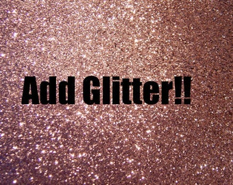 Add Glitter to your shirt