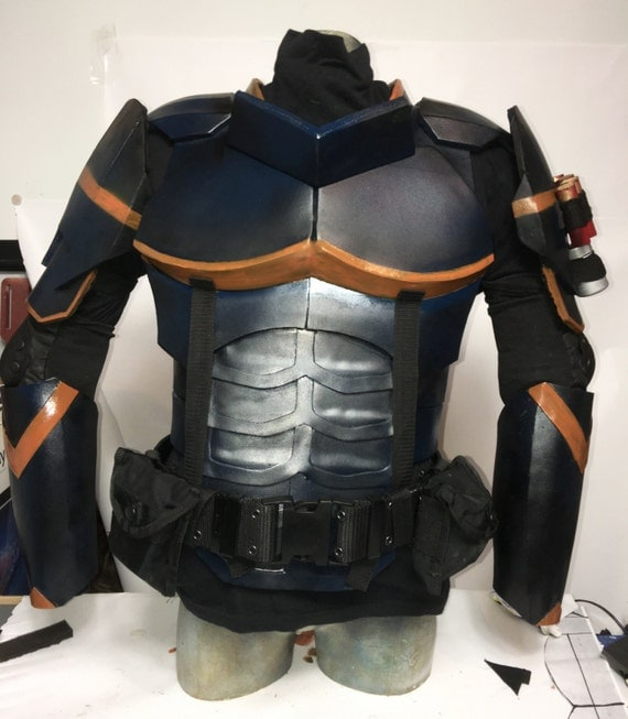 Deathstroke chest shoulders and gauntlets cosplay for Deathstroke armor template