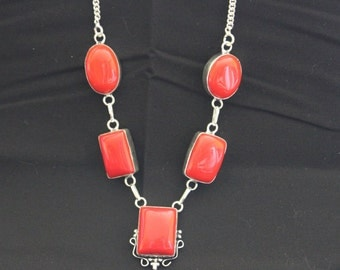 Red Coral Gemstone Necklace!