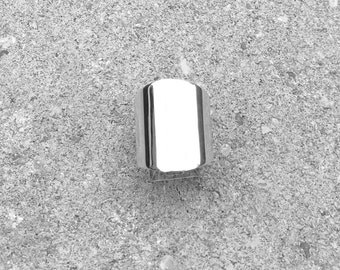 Wide silver Ring | Sterling silver ring | Large Ring | Contemporary Silver Ring | Modern Silver Ring | Women silver ring | Statement ring