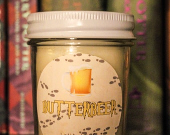 Butterbeer 100% Soy Candle Harry Potter Inspired Candle