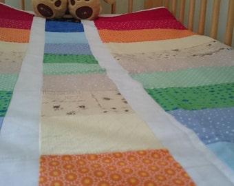 Rainbow Strip 'n' Flip Quilt