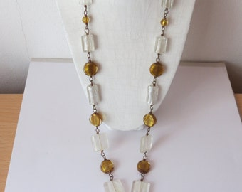 Handmade necklace in copper and glass beads