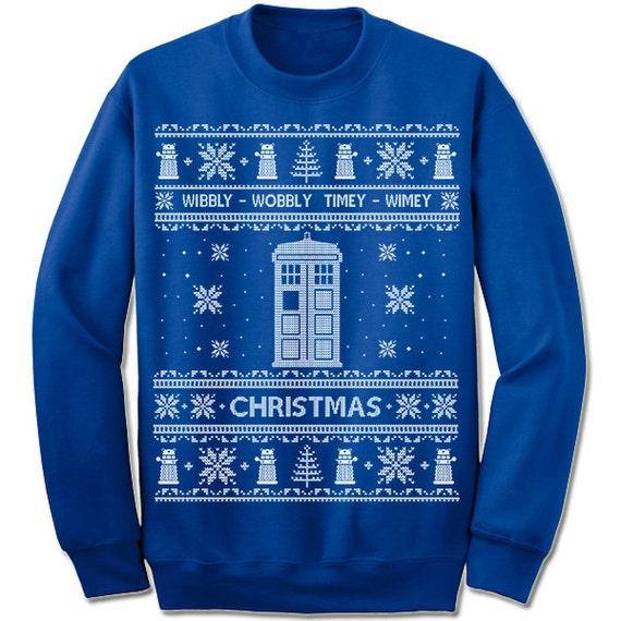 Ugly Christmas Sweater Doctor Who Christmas Sweatshirt. Dr Who