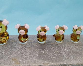 Pig Glass Family