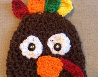 Crochet turkey hat