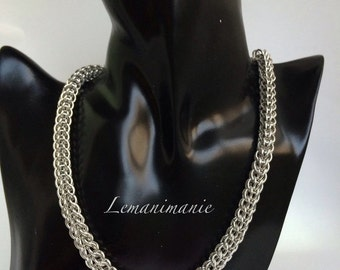 Chainmail necklace Persian weave/chainmail necklace persian weave