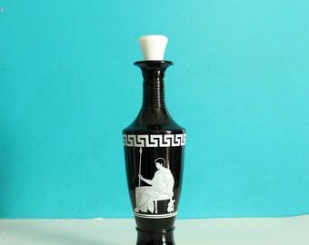 Jim Beam Royal Emperor bottle / 1958 vintage Jim Beam bourbon decanter . 1950s roman theme whiskey decanter . mid century bar decor