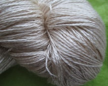 LACE Sea Silk, Lace Weight Silk and Sea Cell Ecru Yarn Base,Lace Undyed Yarn, 70/30 Silk Sea Cell Undyed Yarn