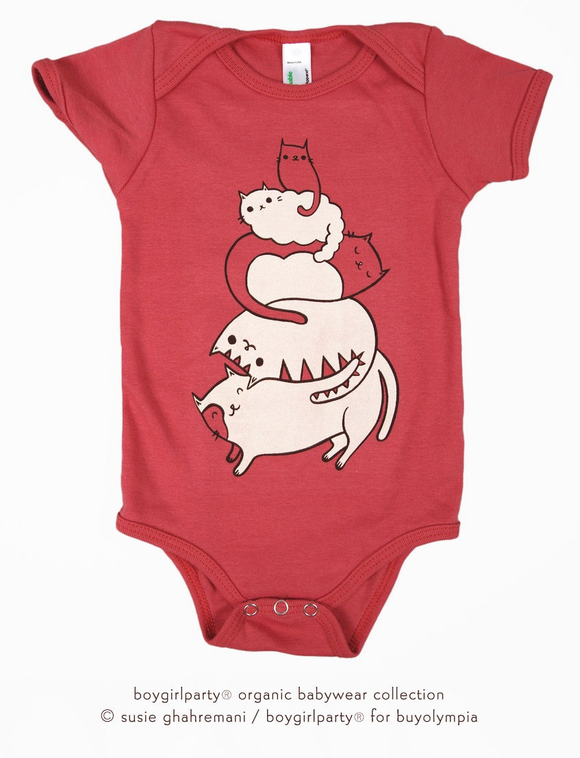 Unique Shower Gift Baby Girl Gift Cat Baby Romper by