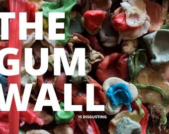 Gum Wall Seattle Postcard: Hilarious Card, Weird Postcards, Art Postcards, Postcrossing, Seattle Card, Seattle Postcard