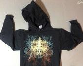 witching hour, tree hoodie, winter etsy, celestial clothing, black pullover hoodie, black hoodie, 1AEON trees unisex Hoodie
