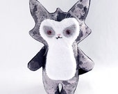 Trouble Cat Plush Toy - Hand Painted Fabric