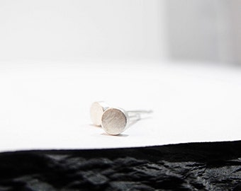Earrings - Small Round Posts in Sterling Silver - Handmade in Seattle
