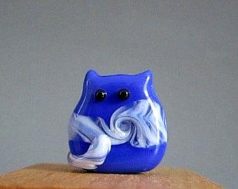 Kitten Bead Handmade Lampwork Focal - Lloyd Itty Bitty FatCat