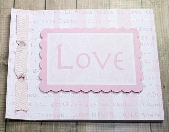 LOVE Pre Made Scrapbook Album Wedding Bridal Shower Baby