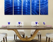 NEW! Large Multi Panel Wall Art in Blue, Decorative Metal Wall Art for a Modern Decor, Metal Wall Decor - Synchronicity Blue by Jon allen