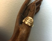Infinite Cocoon ring in Spirit Spine/ Bronze/ US size 6