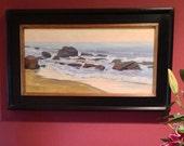 Awakening - 12 x 24 Inch Original Oil Painting of Crystal Cove State Beach - California Beach Painting - Living Room Art - Living Room Decor