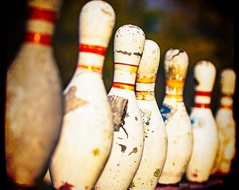 Bowling Pins Photo, Bowler, Bowling Photography, Recreation, Games, Gifts for Bowlers, Wall Art