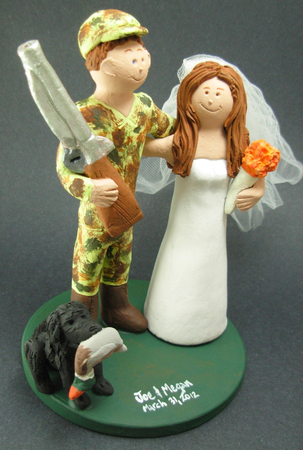 camo wedding cake toppers duck in camo wedding cake topper duck hunters 12342