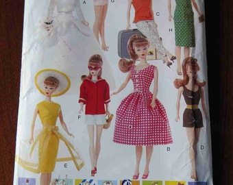 Vogue 639 Vintage Barbie Doll Clothes Sewing Pattern