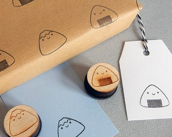 Kawaii Japan Polymer Stamps - Mt Fuji & Onigiri - For Crafts, Journalling and Scrapbooking