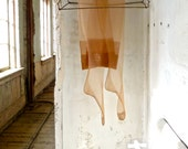 Gotham Seamed Beige Stockings Size 10-1/2