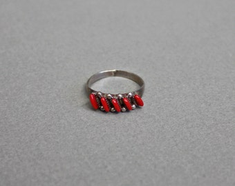 Tilted Coral Ring. 5