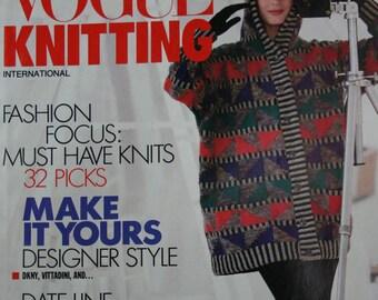 Knitting Patterns Sweaters Vogue Knitting Fall 1991 Women Cardigans Tunic Dress Men Vest Paper Original NOT a PDF