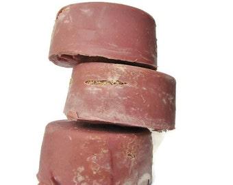 Cherry Almond Loofah Soap -  Pedicure Soap - Foot Scrub - Cold Process Soap - Exfoliating Soap - Vegan Soap - Amaretto Scented Handmade Soap