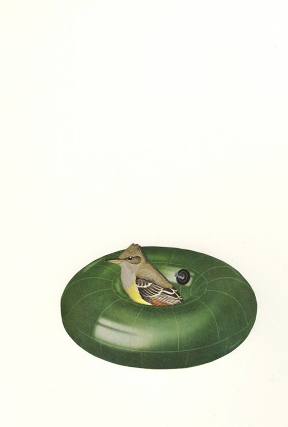Sometimes all we can do is try to stay afloat.  Original collage by Vivienne Strauss.